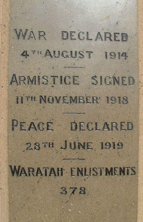 Waratah War Memorial