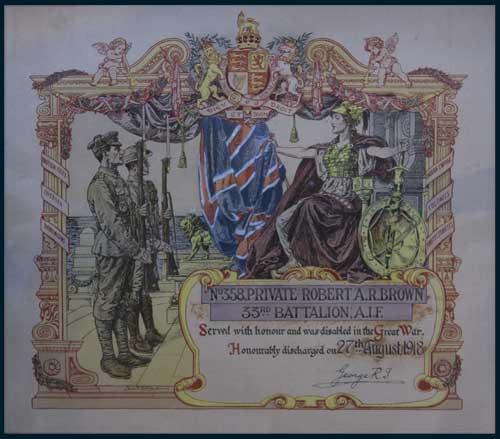 Discharge Certificate
