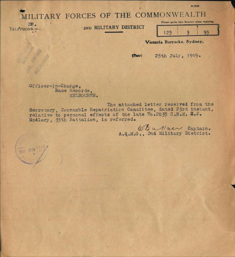 62nd Battalion – The Harrower Collection